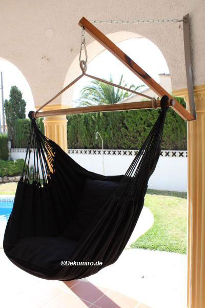aufh ngung f r h ngestuhl mit h ngesitz black 3958 ebay. Black Bedroom Furniture Sets. Home Design Ideas